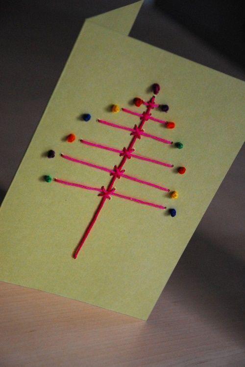 Tarjetas de navidad originales hechas a mano figuras con - Tarjetas de navidad originales ...